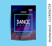 electronic dance music cover... | Shutterstock .eps vector #1119056729