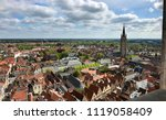 panoramic view from the belfry... | Shutterstock . vector #1119058409