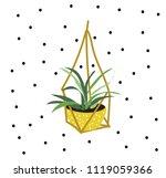 hanging pot plant vector...   Shutterstock .eps vector #1119059366