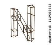 construction letter n. 3d... | Shutterstock . vector #1119059933