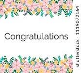 greet congratulation flower...   Shutterstock .eps vector #1119072164