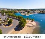 aerial drone view of sacramento ... | Shutterstock . vector #1119074564
