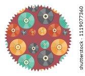 vinyls pattern design | Shutterstock .eps vector #1119077360