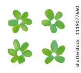 flowers in gradient mesh ...   Shutterstock .eps vector #1119077660