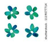 flowers in gradient mesh ...   Shutterstock .eps vector #1119077714