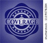 coverage badge with denim... | Shutterstock .eps vector #1119078284