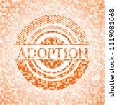 adoption abstract orange mosaic ... | Shutterstock .eps vector #1119081068