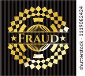 fraud gold badge or emblem | Shutterstock .eps vector #1119082424