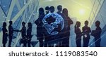 global business concept. group... | Shutterstock . vector #1119083540