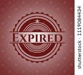 expired red emblem. retro | Shutterstock .eps vector #1119084434