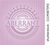 aberrant pink emblem. vintage.   Shutterstock .eps vector #1119087593