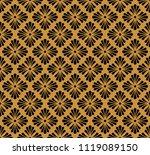 elegant floral vector seamless...   Shutterstock .eps vector #1119089150