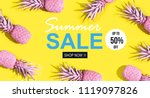 summer sale with painted... | Shutterstock . vector #1119097826
