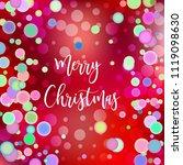 merry christmas illustration... | Shutterstock .eps vector #1119098630