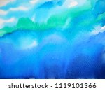 abstract dark blue sky water... | Shutterstock . vector #1119101366