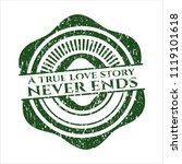 green a true love story never... | Shutterstock .eps vector #1119101618