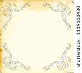 retro baroque decorations... | Shutterstock .eps vector #1119103430