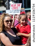 Small photo of SAN FRANCISCO, CA - JUNE 23, 2018: The Families Belong Together rally opposed the cruel, inhumane and illegal separation of children from their parents guardians along the U.S. border with Mexico.