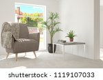 idea of white room with... | Shutterstock . vector #1119107033