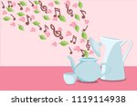 musical notes  flower petals...   Shutterstock .eps vector #1119114938