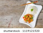pork in sweet and sour sauce. a ...   Shutterstock . vector #1119121520
