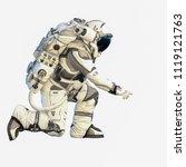 astronaut on white. mixed media   Shutterstock . vector #1119121763