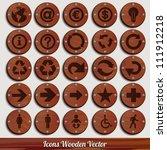 set vector wooden plaque | Shutterstock .eps vector #111912218