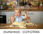 little baby boy  toddler child  ... | Shutterstock . vector #1119125066