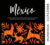 colorful mexican traditional...   Shutterstock .eps vector #1119125888