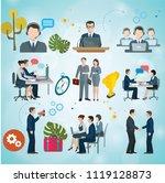 business people vector...   Shutterstock .eps vector #1119128873