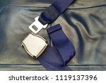 seat belt on seat taken from... | Shutterstock . vector #1119137396