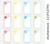set of kid price stickers   Shutterstock .eps vector #111913793
