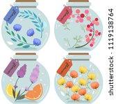 herbarium illustration sets ...   Shutterstock .eps vector #1119138764