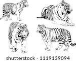 set of vector drawings on the... | Shutterstock .eps vector #1119139094