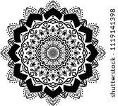 beautiful flower mandala  ...   Shutterstock .eps vector #1119141398