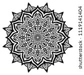 beautiful flower mandala  ...   Shutterstock .eps vector #1119141404