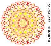 beautiful flower mandala  ...   Shutterstock .eps vector #1119141410