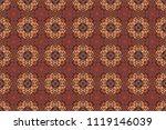 arabesque raster ornament. old... | Shutterstock . vector #1119146039