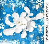 merry christmas illustration... | Shutterstock .eps vector #1119150440
