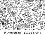 travel to saint petersburg ...   Shutterstock .eps vector #1119157346