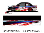 car livery graphic vector.... | Shutterstock .eps vector #1119159623