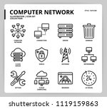 computer network icon set | Shutterstock .eps vector #1119159863