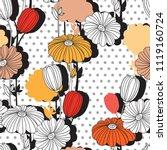 flower collage.seamless pattern....   Shutterstock .eps vector #1119160724
