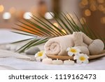 beautiful spa composition on... | Shutterstock . vector #1119162473