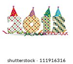 cute card on new year 2013 with ... | Shutterstock . vector #111916316