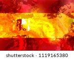 spain grunge flag isolated...   Shutterstock .eps vector #1119165380