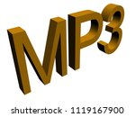 mp3 text isolated. 3d...   Shutterstock . vector #1119167900