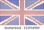 dotted united kingdom flag on... | Shutterstock .eps vector #111916964
