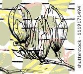 tropical  stripe  animal motif. ...   Shutterstock .eps vector #1119171494