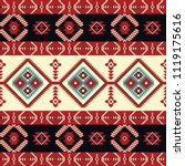native fabric. geometric design ... | Shutterstock .eps vector #1119175616